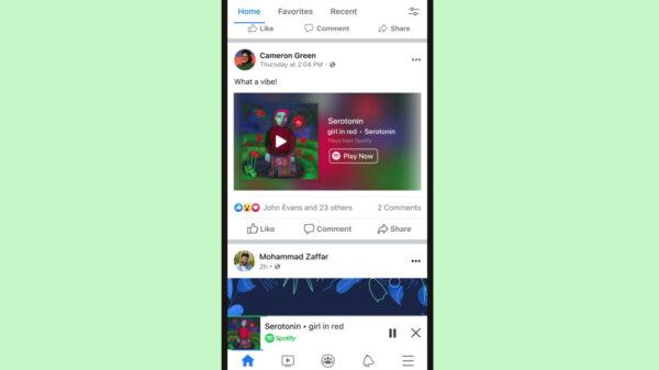 Spotify E Facebook Firmam Parceria E Criam Um Miniplayer Dentro Da Rede Social
