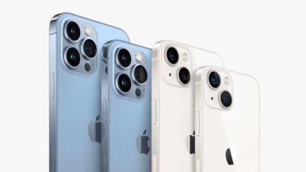 Linha do iPhone 13